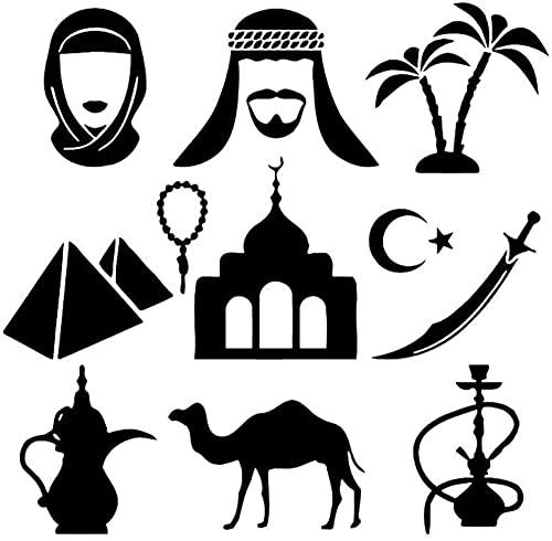 KBIASD Personalizar pegatinas de pared humo indio fumar fresco vinilo decorativo calcomanías de pared camello sala de estar decoración del hogar 42X43Cm