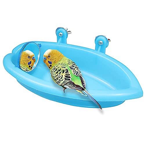 Accesorios para jaulas para pájaros con espejo para pájaros,accesorios para bañeras para...