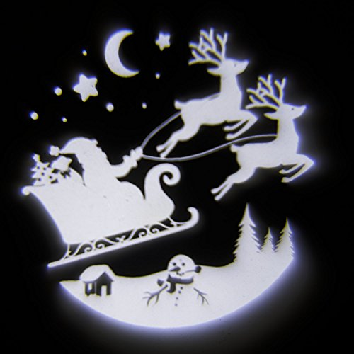 Proiettore Babbo Natale con Slitta, led bianco freddo, esterno