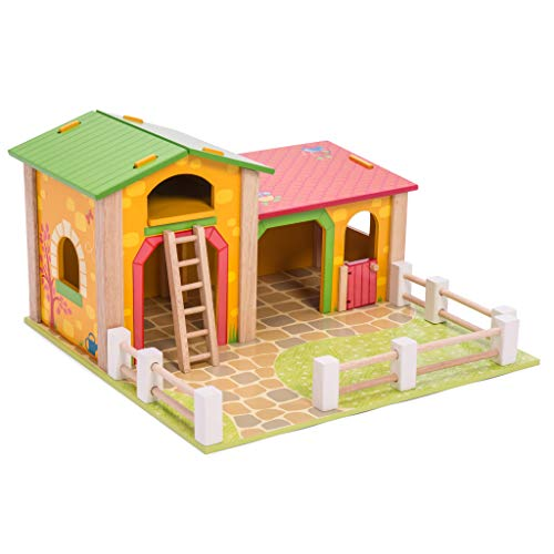 Le Toy Van TV411 Wooden Educational Farms & Animals Collection Le Barnyard...