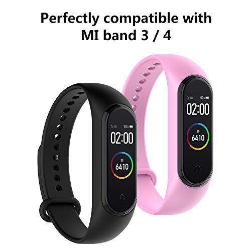 Hianjoo [16 Pack] Strap Compatible with Xiaomi Mi Smart Band 4/3,Adjustable Sport Accessory Soft Wristband Replacement For Mi Band 4/3 - Colorful
