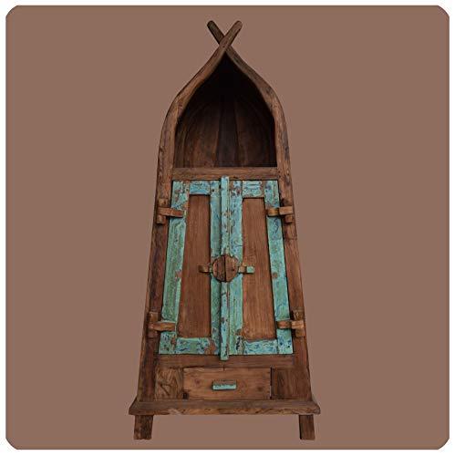 Massivholz Schrank chabby chic Sumatra Vintage Teak Altholz Möbel Handarbeit Antik 2