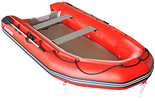Saturn 12 ft Red Inflatable Sport Motor Boat Dinghy Raft Tender (RED)