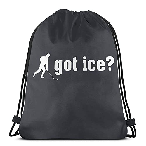 Lmtt Mochila con cordón Mochila deportiva Bolsa de viaje Mochila de gimnasio Consiguió Hockey sobre hielo