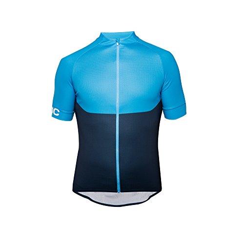 POC T-Shirt Essential XC Zip pour Homme, Homme, T-Shirt, 52830, Furfural Blue, XS