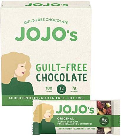 JOJO s Dark Chocolate Bars Made with Hemp Plant Based Protein Low Sugar Low Carb Vegan Paleo product image