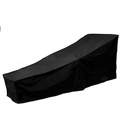 Wrighteu - Custodia per sedia a sdraio con chaise longue in Oxford per salotto, per esterni, colore: nero, 208 x 79 x 76 cm