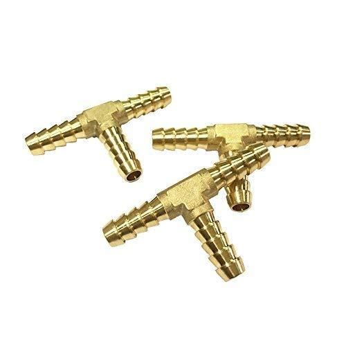 Nigo Industrial Co. 3-Way Tee Brass Hose Fitting, 3/16