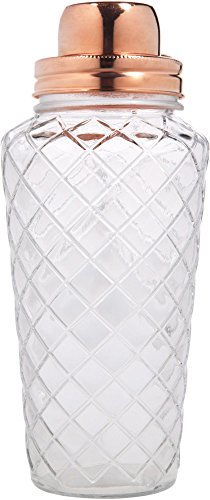 Home Essentials & Beyond Diamond Shaker with Copper Lid, Clear