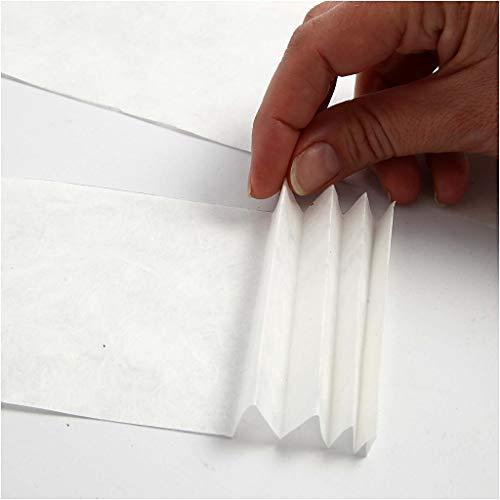 Seidenpapier weiß 20860 von Creativ Company – Transparentes Seidenpapier zum Basteln und zur Dekoration. 50 x 70 cm, 14g/qm, 25 Blatt. - 4