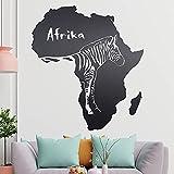 KIWISTAR Zebra u. Schriftzug Afrika Wandtattoo in 6 Größen - Wandaufkleber Wall Sticker
