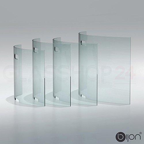glasshop24 bijon® Kamin Ofen Glas Funkenschutzgitter Funkenschutz Schutzgitter | 85x50x18cm (BxHxT)