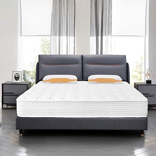 Kono King Size Mattress - 7.8 Inch Pocket Sprung Mattress - 5FT Memory Foam Mattress with Breathable Foam and Luxurious Jersey Knitted Fabric - Medium Firm Feel - 150cm x 200cm