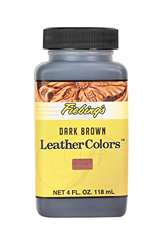 Fiebing's LeatherColors 4oz Dark Brown - Water based penetrating & permanent leather dye