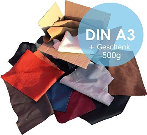 Lederreste Sortiert, 1000 g größer DinA3 + 500 g DinA5 kostenlos dazu