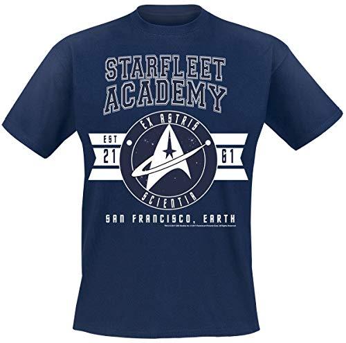 Star Trek Ex-Astris Scientia Homme T-Shirt Manches Courtes Marine M