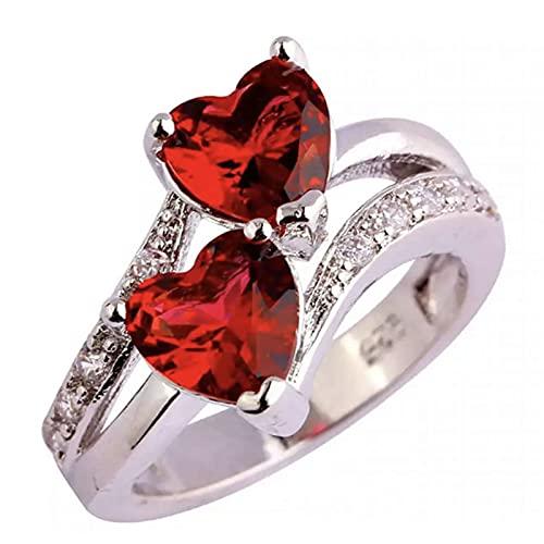 Anillos de moda para mujeres, anillo de aleación portátil ligero pequeño metal dedo decoración amor corazón forma anillo de compromiso