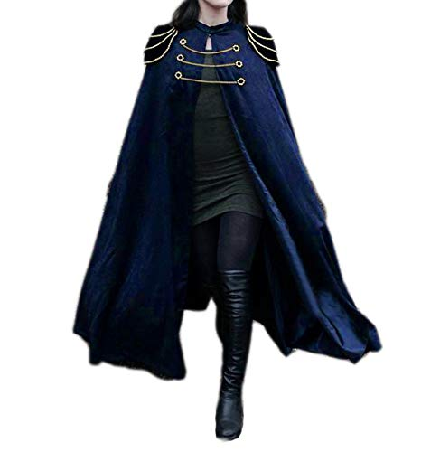 Frauen Gothic Steampunk Vintage Hexe Mantel Mantel Halloween Party Cosplay Kostüm