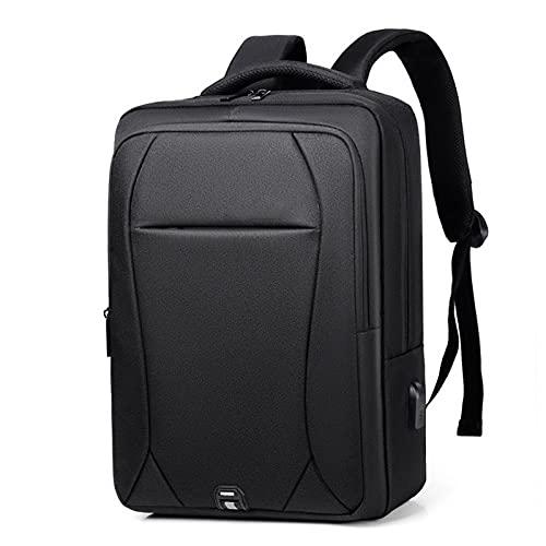 Mochila para Portátil, Mochila Impermeable para Ordenador Portátil de hasta 15.6 Pulgadas,con Anillo de Bloqueo antirrobo y Puerto USB,para los Estudios,Trabajo o Viajes,Black