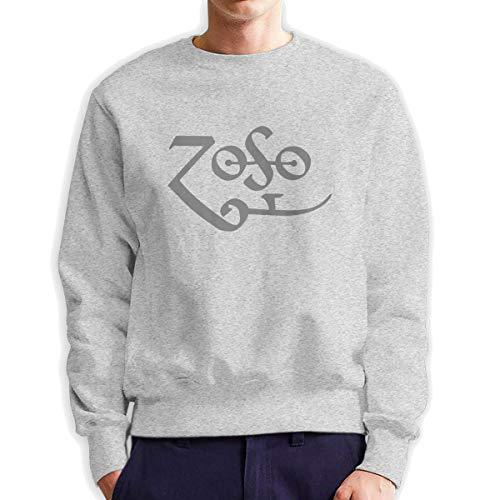 Top Wholesale Zoso Herren Sweatshirt mit Rundhalsausschnitt, mittlere Dicke Gr. Medium, grau