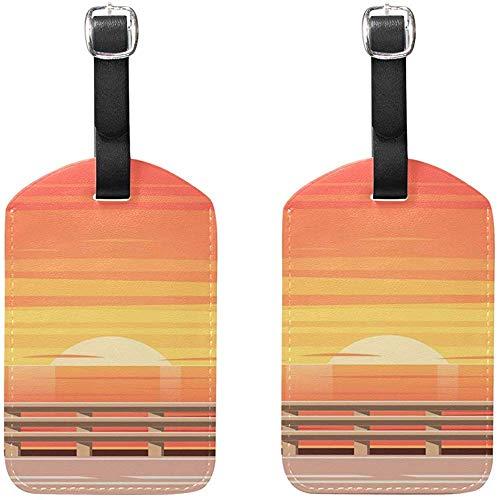Beach Road con barandas Etiquetas para Equipaje Etiquetas de Viaje para Maletas...