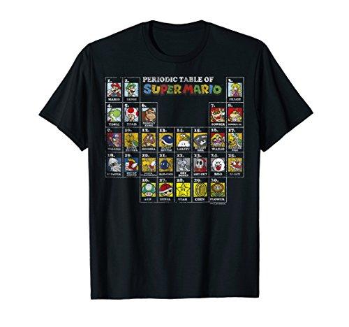 Nintendo Super Mario Periodic Table Graphic T-Shirt T-Shirt