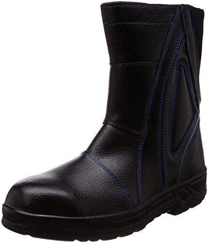[ジーデージャパン] 長靴のように履ける半長靴 履き口ネオプレーン・滑り止め付き 4E W3090 ブルー/ブラック 28 cm