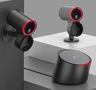 Deep Sentinel Smart Home Surveillance - Real Human Guards Respond to People on Your Property, 24/7. Includes 3X Night Vision Cameras, 1x hub and 1 Year of Live Sentinel Guard Service.