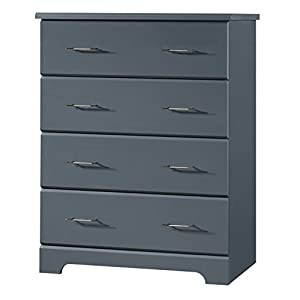storkcraft Brookside 4 Drawer Chest, Gray, Kids Bedroom Dresser with 4 Drawers, Wood and Composite Construction, Ideal for Nursery Toddlers Room Kids Room