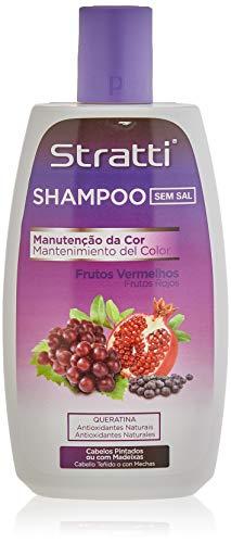 Stratti Frutos Rojos - Champú Color Intenso con Keratina, sin Sal - 400 ml