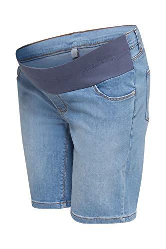 ESPRIT Maternity Damen Short Denim UTB Umstandsshorts, Blau (Lightwash 950), (Herstellergröße: 44)