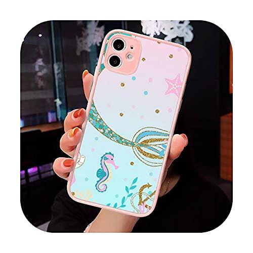 Moda caramelo colorido patrón teléfono caso mate transparente para iPhone 7 8 11 12 s Mini pro X XS XR MAX Plus cubierta funda-a9-iPhone12pro