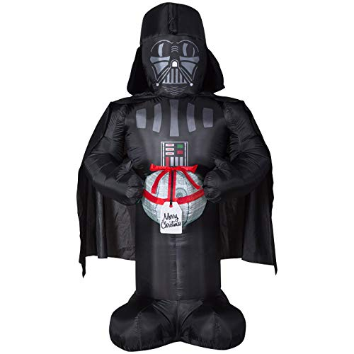 Airblown Inflatable 6 FT Tall Christmas Star Wars Darth Vader Holding Death Star Ornament