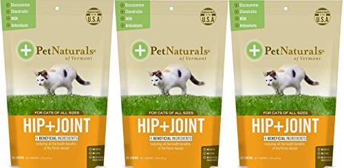 3 Pack Pet Naturals of VT Hip  Joint Supplements for Cats