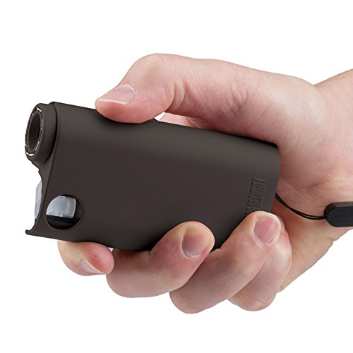 Guard Dog Security World's Only All-in-One Stun Gun - Pepper Spray - Flashlight, Olympian, Black