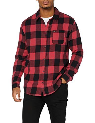 Quiksilver Flannel-Camisa De Manga Larga para Hombre, Americas Red Motherfly, S
