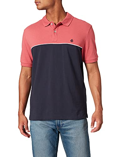 Springfield Polo Camiseta, Rosa, L para Hombre