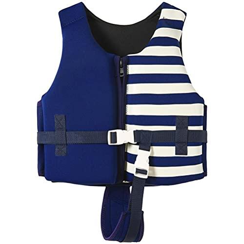 Kagodri Chaleco de natación para niños, chaleco de natación de neopreno premium para niños, flotadores para natación a rayas, traje de baño de alta flotabilidad para niños de 1 a 12 años