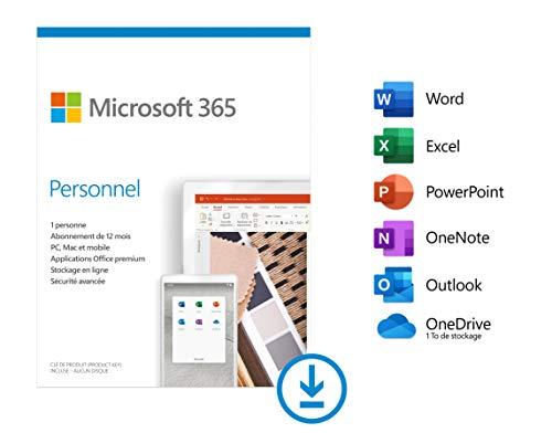 Microsoft 365 Personnel | PC/MAC/Chromebook | 1 personne | Téléchargement