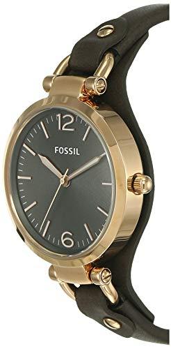 Fossil Femme Analogique Quartz Montre avec Bracelet en Cuir ES3077