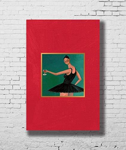 Kanye West My Beautiful Dark Twisted Fantasy Art Poster - No Frame (24 x 36)