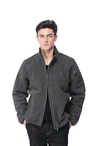 Pau1Hami1ton PJ-05 Herren Winterjacke beheizbare Heiz-Jacke beheizbare Softshell-Jacke Heat Jacket (M, Grey)