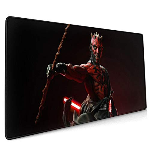 Da-Rt-h Ma-Ul Mouse Pad 15.8x35.5 in with Non-Slip Rubber Base Thick Mouse Pad for Computers, Laptop, Gaming, Office & Home,Black,One Size