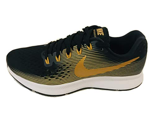 Nike WMNS Air Zoom Pegasus 34 880560-009 Black/Metallic Gold Women's Running Shoes (7.5)
