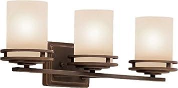 Chrome 200 Total Watts Hendrik Reversible Glass Wall Vanity Lighting 2 Light Kichler 5077CH