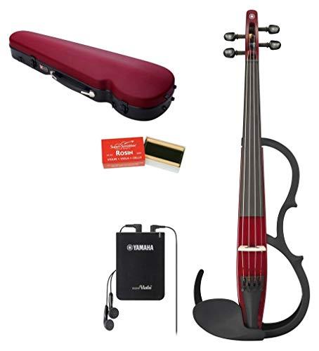 ヤマハ YAMAHA サイレントバイオリンセット YSV104S RD レッド 弓・ハードケース・松脂がセットになったベーシックモデル