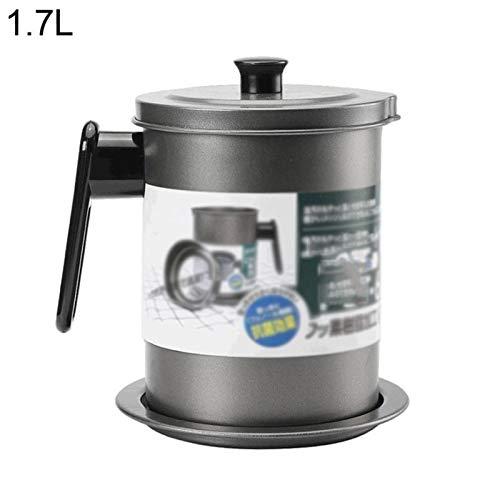 Coladores cocina Pan de aceite de estilo japonés de acero inoxidable Pantalla de filtro de acero inoxidable Hogar de la botella de aceite de aceite Cocina Filtro de aceite Arte Lard Almacenamiento Col