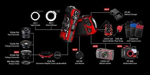 OLYMPUSデジタルカメラToughTG-6レッド1200万画素CMOSF2.015m防水100kgf耐荷重GPS内蔵Wi-FiTG-6RED