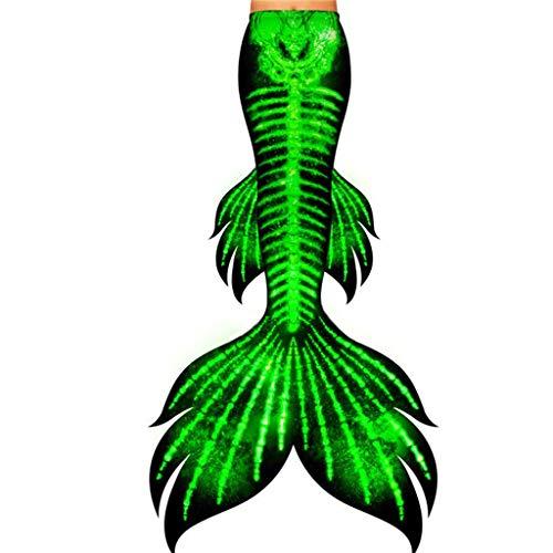 Mermaid Tail Balneabile Bikini,da Bagno Coda di Sirena Cosplay Abiti da Festa Stili Multipli (Color : Style-P, Size : Tailored)