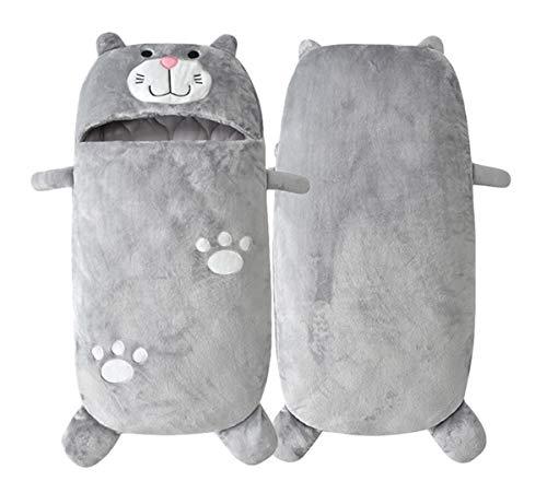 Doladola Unisex Baby Safe Schlafsack Baumwolle Tragbare Decke Baby Schlafsack Für 0-2 Jahre Baby (Graue katze, 0-2 Jahre)